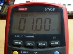 UT60E AC Current Measurement - 1mA RMS
