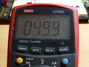 UT60E Duty Cycle Measurement - 50%