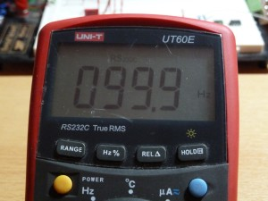 UT60E Frequency Measurement - 100Hz