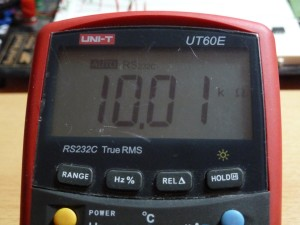 UT60E Resistance Measurement - 10k