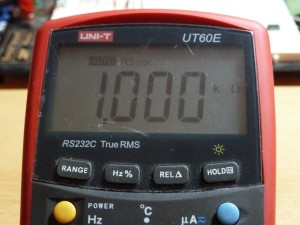 UT60E Resistance Measurement - 1k